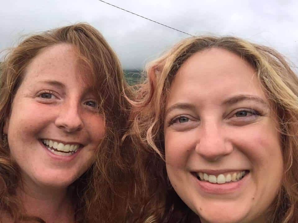A picture of two women smiling